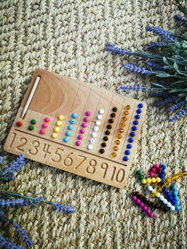 Sensory Wooden Number Tracing Board