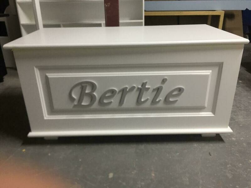 The Bertie: Personalized Wooden Large Toy Box - Personalized