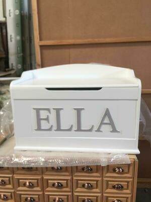The Ella: Personalized Wooden Large Toy Box - Personalized