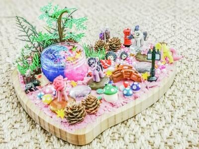 Pink Heart UnicornSensory Sand and SlimeKit