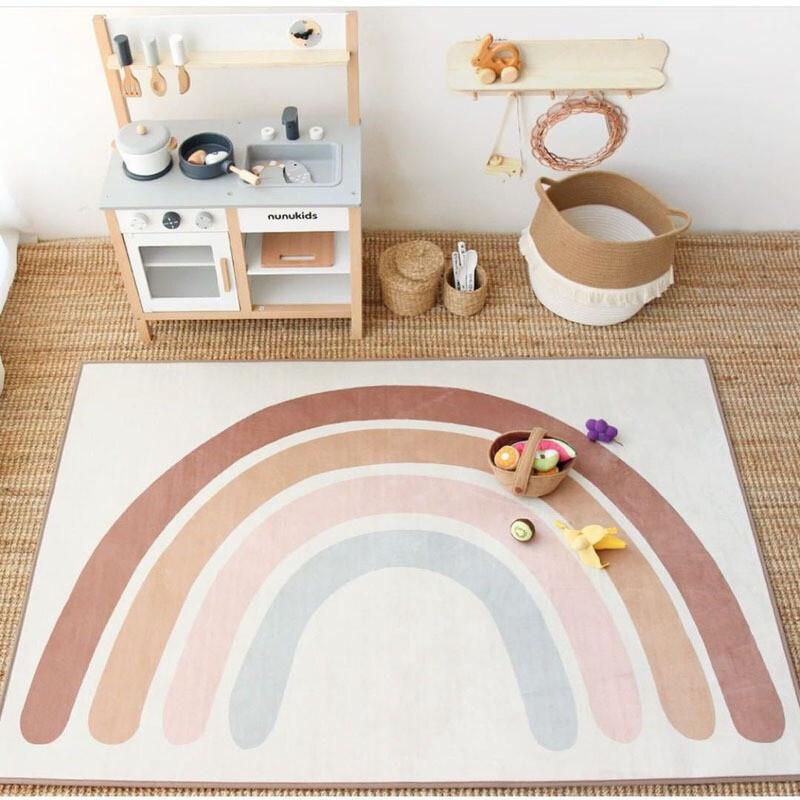 Rainbow Rug and Crawling Play Mat
