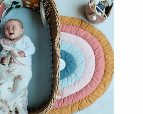 Nordic Rainbow Cotton Rug and Playmat