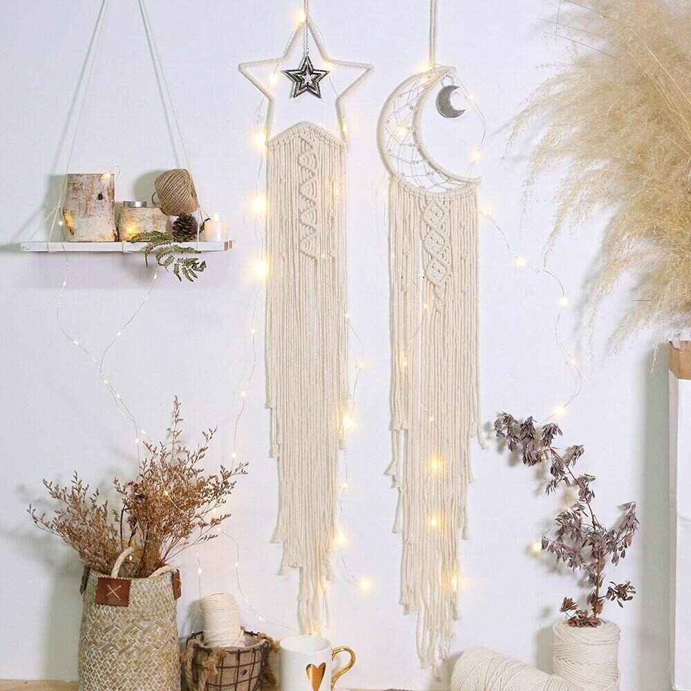 Nordic Room Handmade Cotton Rope Hanging Decor - Star