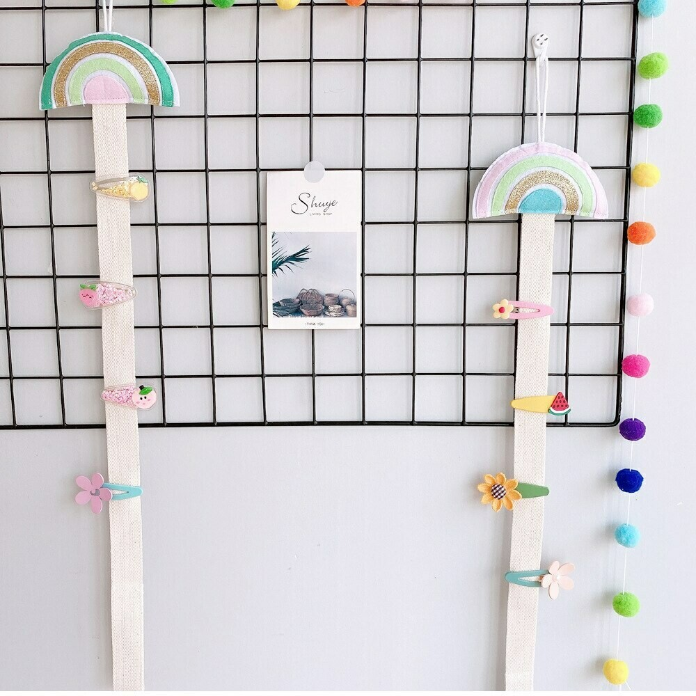 Rainbow Wall Hanging Clips Collection Display