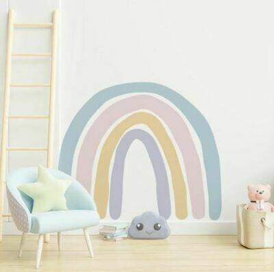 Rainbow Decal - Blue