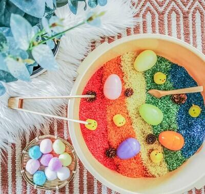 Rainbow Rice Easter Egg Sensory Play Set (Mega)