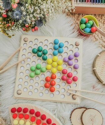 Wooden Training Beads & Puzzle Board