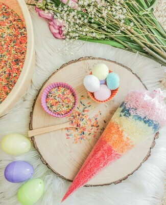 Rainbow Rice Easter Egg Sensory Play Set (Mini)