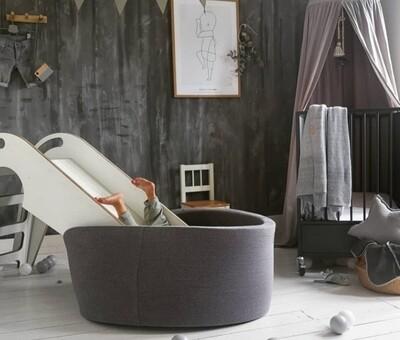 Custom Made Round Foam Ball Pit - Dark Grey