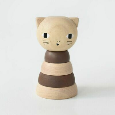 Wood Stacker Toy - Cat