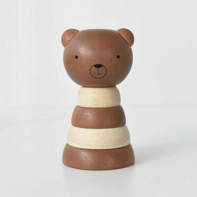 Wood Stacker Toy- Bear