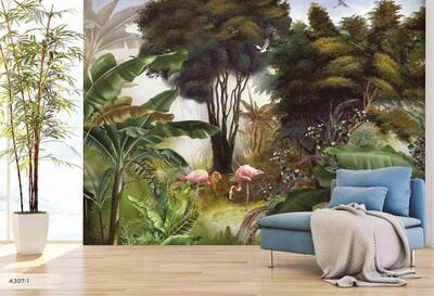 Wallpaper - Amazon Collection: Flamingos Yard