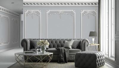 Wallpaper - Moulding: Modernized Touch