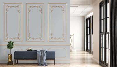 Wallpaper - Moulding: Golden Relief