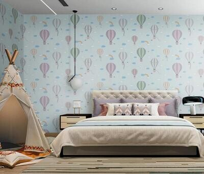 Wallpaper - Kids Collection: Flying Balloons