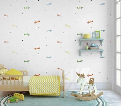 Wallpaper - Kids Collection: Flying Planes