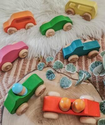 Wooden Car Set - 10 Pieces