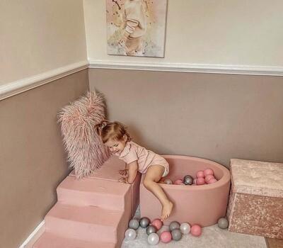 Soft Foam Play 3 Piece Set - Steps, Cube & Ball Pit
