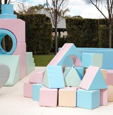 Soft Foam Play 15 Piece Set - Mega House Pastel