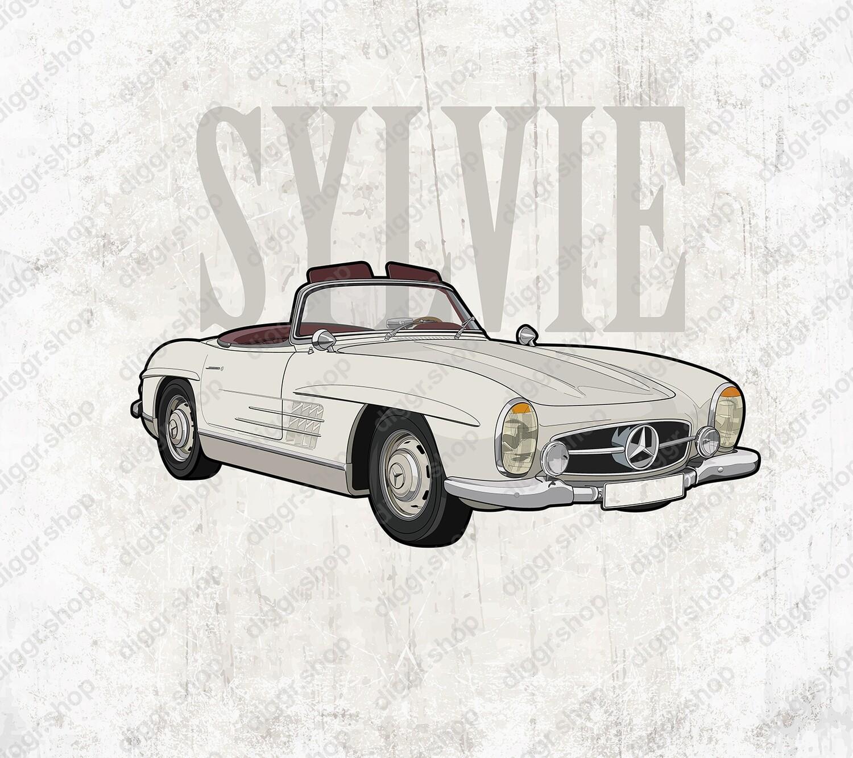 Geboortekaartje Mercedes SL 1959 (9998)