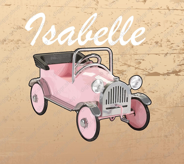Geboortekaartje Pink Cadillac vintage (254)