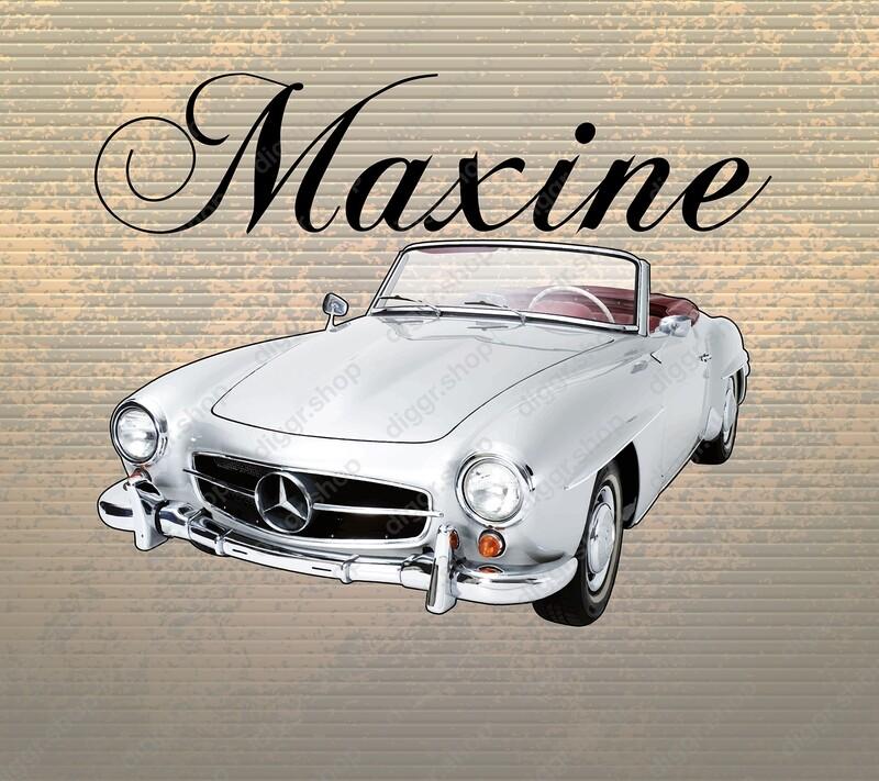 Geboortekaartje Mercedes SL vintage (253)