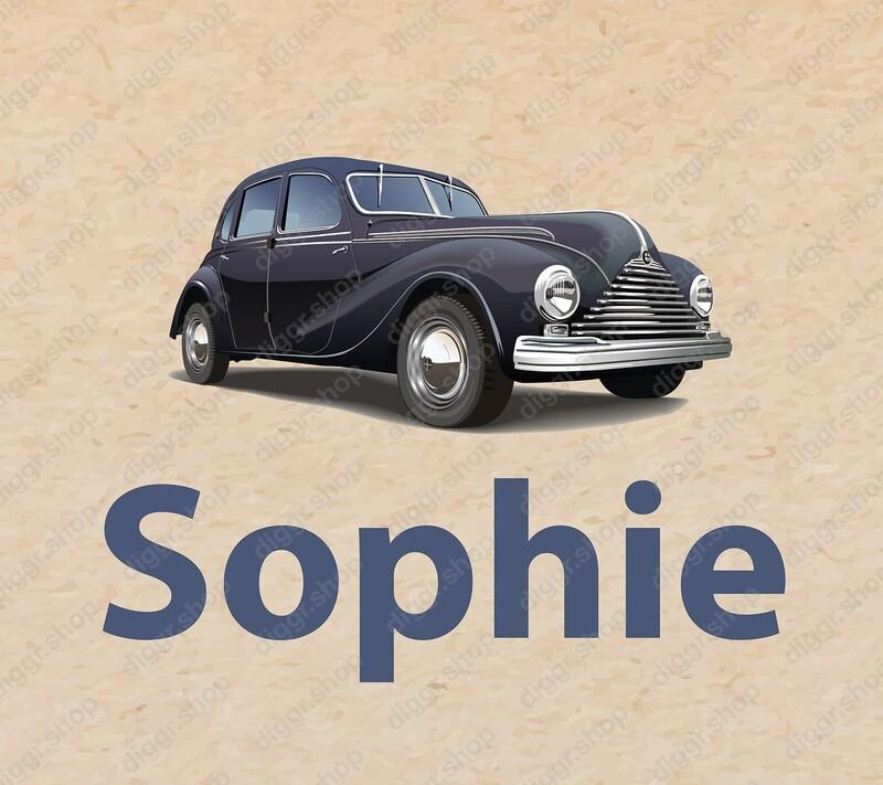 Geboortekaartje Vintage car (272)