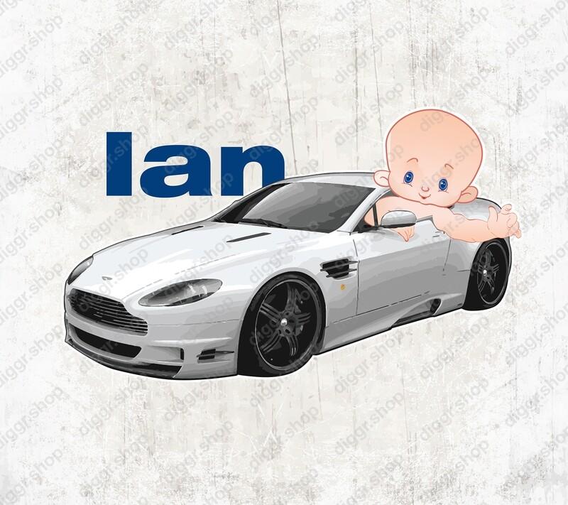 Geboortekaartje Aston Martin (1309)