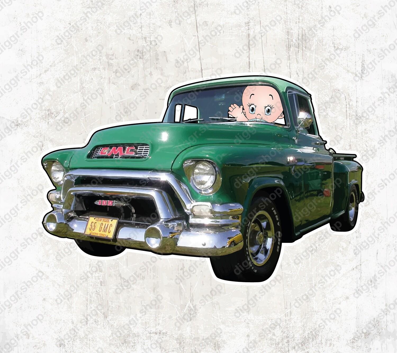 Geboortekaartje GMC pick up 1959 (1360)