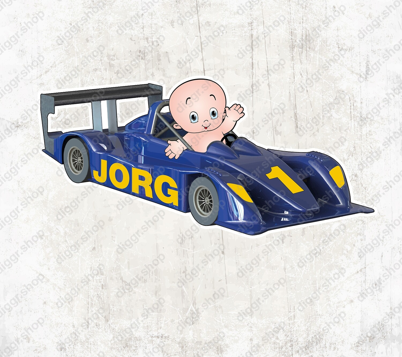 Geboortekaartje Racewagen (1407)