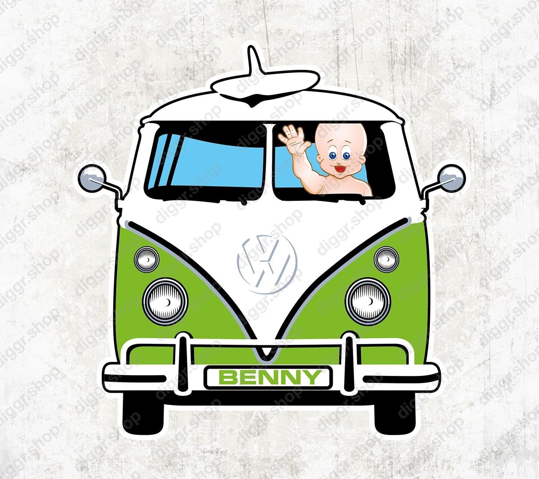 Geboortekaartje VW Bus (1421)