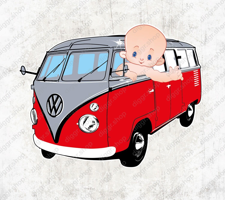 Geboortekaartje VW Bus (1423)