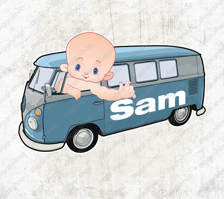 Geboortekaartje VW Bus (1425)