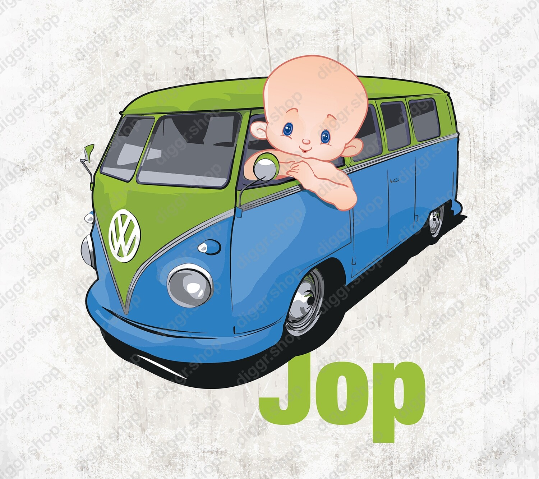 Geboortekaartje VW Bus (1427)