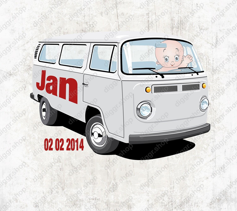 Geboortekaartje VW Bus T2 (1426)