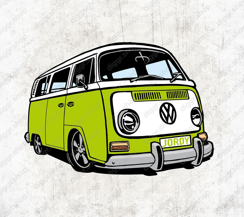 Geboortekaartje VW Bus (19010)