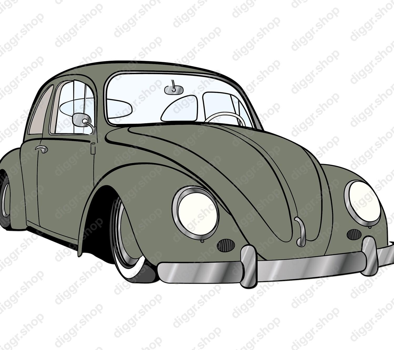 Geboortekaartje VW kever (19036)