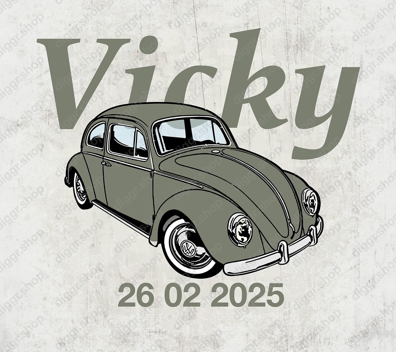 Geboortekaartje VW kever (19037)