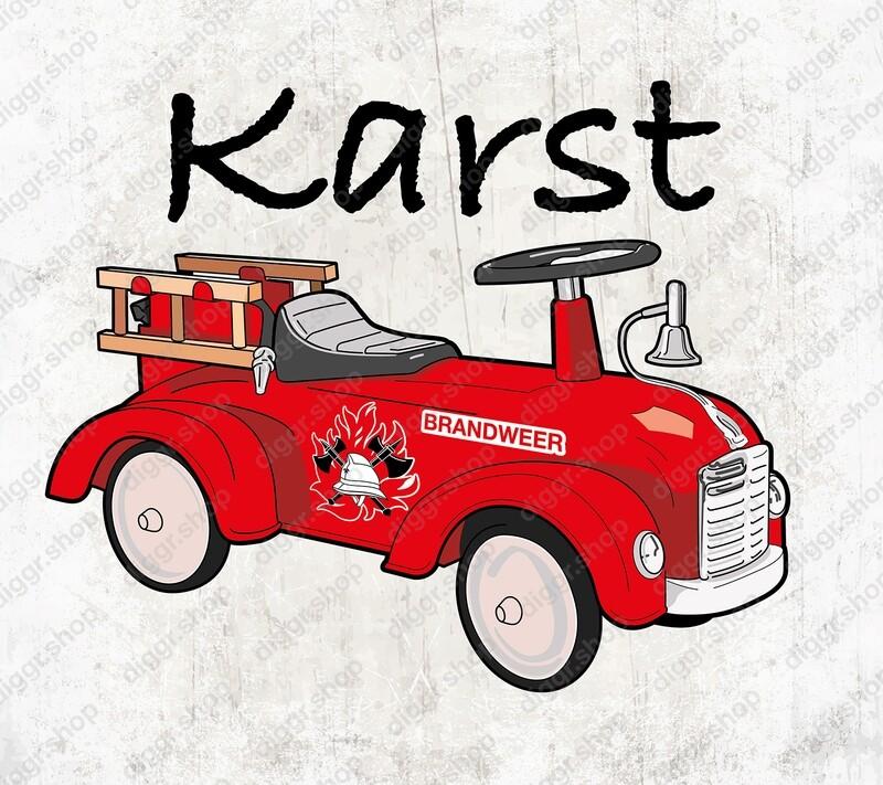 Geboortekaartje Brandweer loopauto (19065)