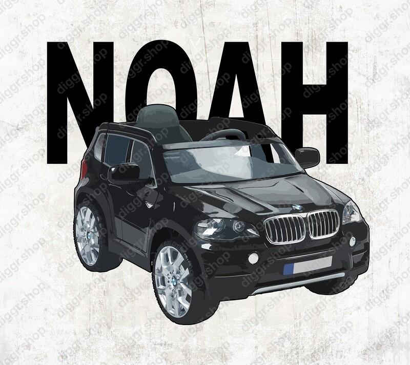 Geboortekaartje BMW Electrische kinderauto (20007)