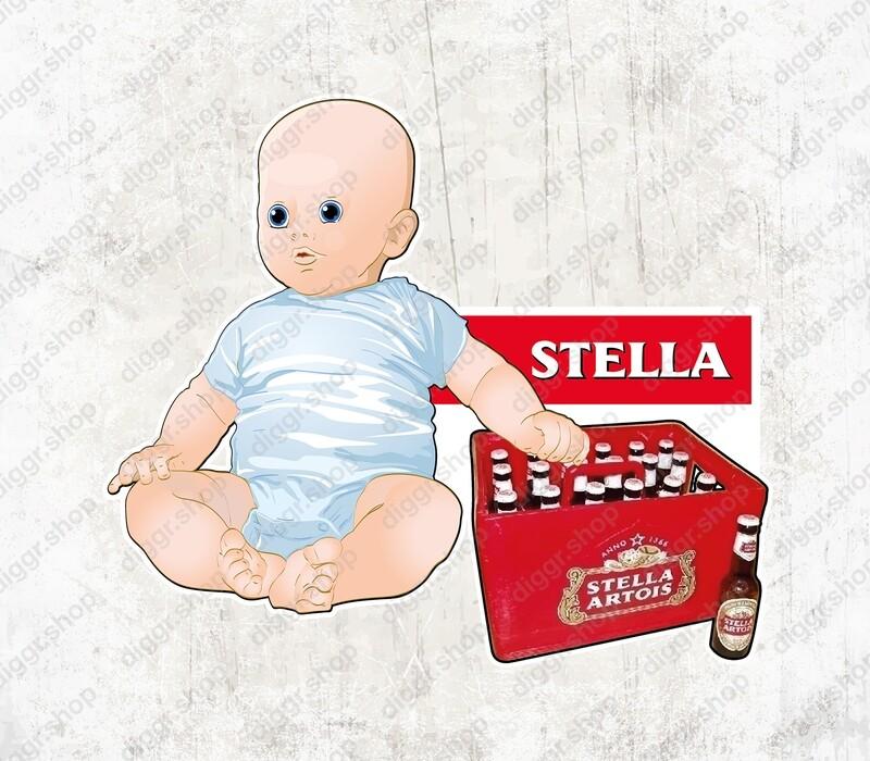 Geboortekaartje Baby Stella Artois (1507)