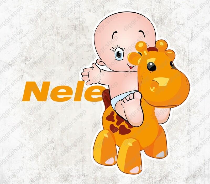 Geboortekaartje Baby & speelgoed giraffe (1510)