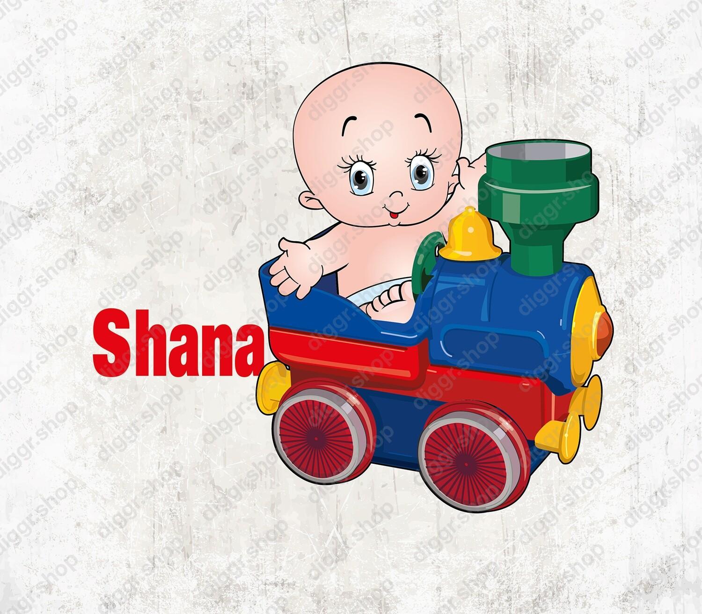 Geboortekaartje Baby & speelgoed trein 2 (1540)