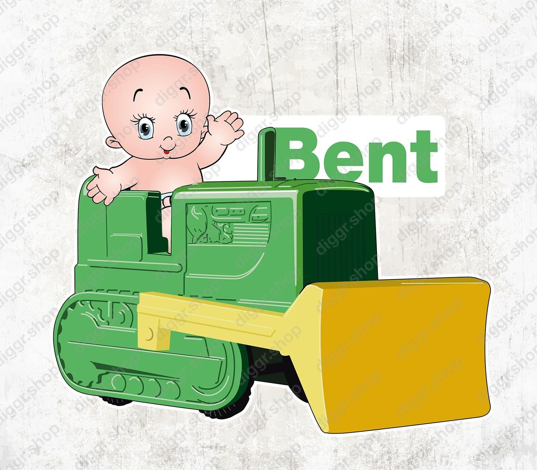 Geboortekaartje Baby & speelgoed bulldozer (1546)