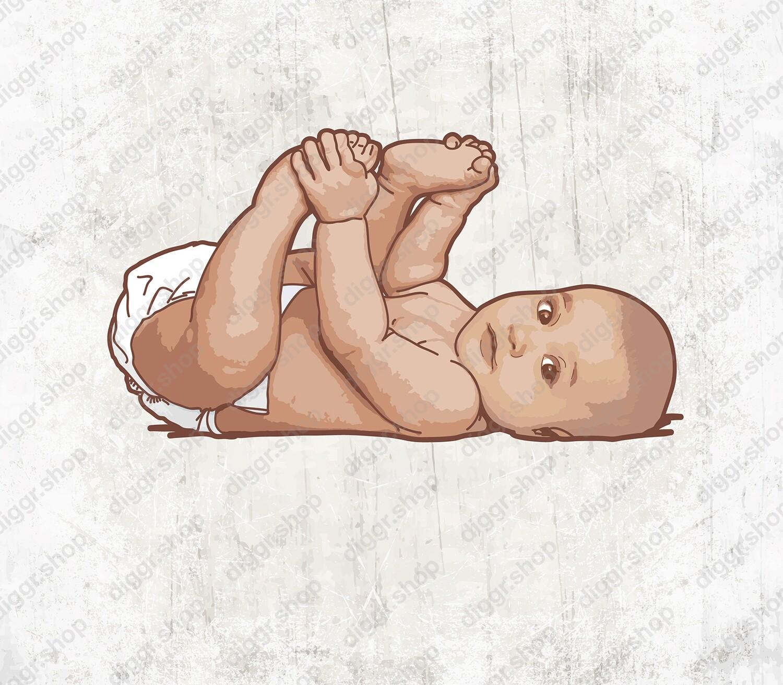 Geboortekaartje Baby liggend (1567)