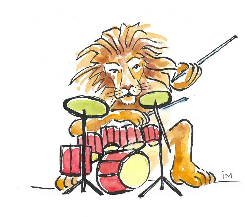 Geboortekaartje Leeuw drummer (201924)