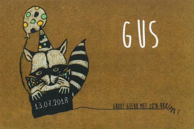Geboortekaartje Gus (201904)