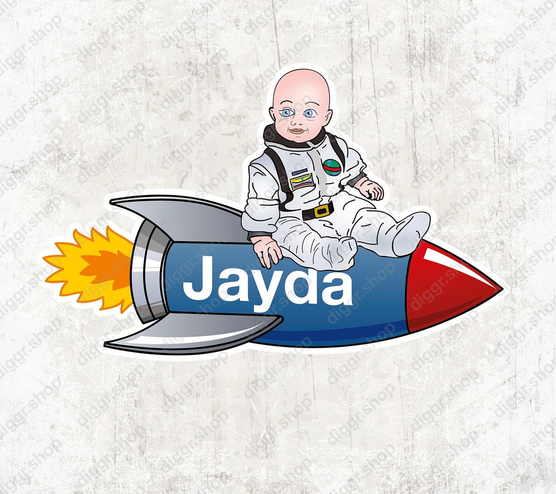 Geboortekaartje Astronaut (1007)