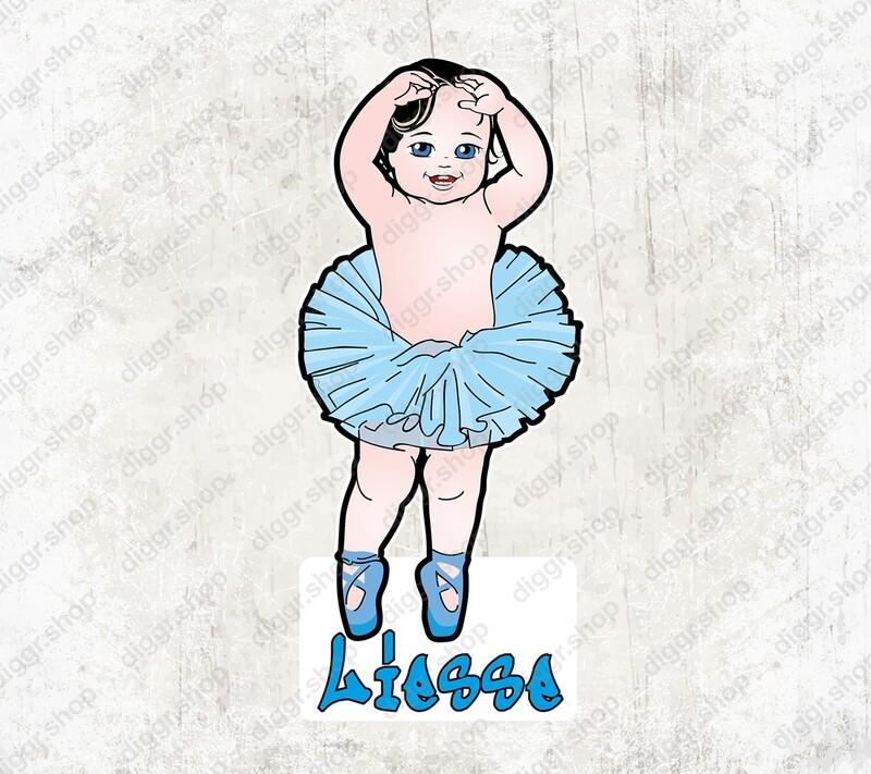 Geboortekaartje Ballerina (1011)