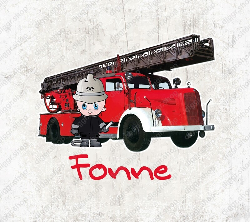 Geboortekaartje Brandweerladderwagen (vintage) (1014)